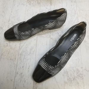 VANELi Black & White Frankie Black Tip Shoe Sz 11